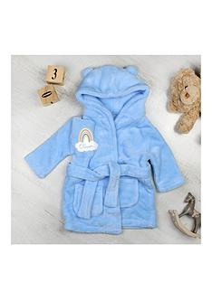 the-personalised-memento-company-personalised-rainbow-motif-blue-dressing-gown