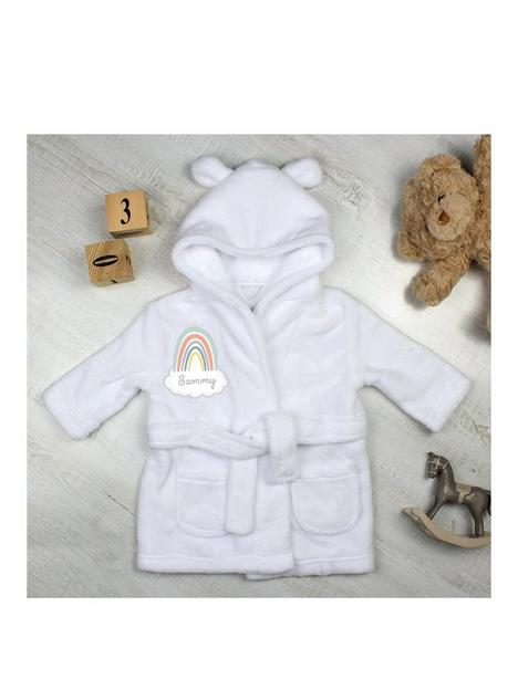 the-personalised-momento-co-personalised-rainbow-motif-white-dressing-gown