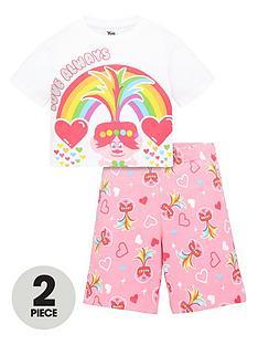 dreamworks-trolls-girls-trolls-2-piece-love-always-t-shirt-and-cycling-short-set-pink