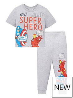 marvel-boys-marvel-2-piece-mummys-super-hero-t-shirt-amp-jogger-set-grey