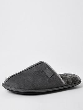 river-island-mule-slipper-grey