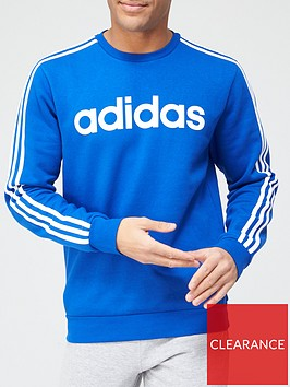 adidas-essentials-3-stripes-sweatshirt-bluenbsp