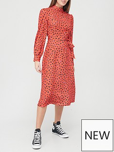 v-by-very-high-neck-midi-dress-redprint
