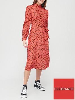 v-by-very-high-neck-midi-dress-redprint