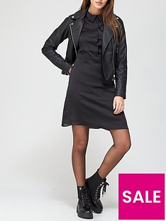 v-by-very-satin-shirt-dress-black