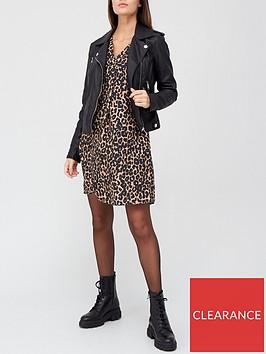 v-by-very-notch-neck-long-sleeve-dress-leopard