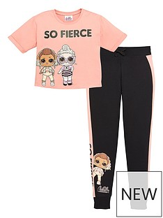 lol-surprise-girlsnbsp2-piece-so-fierce-top-and-joggers-set-pink