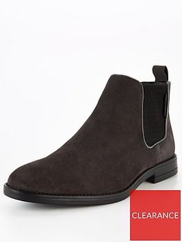 river-island-grey-suede-gusset-chelsea-boot