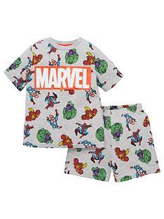 marvel-boysnbspall-over-print-logo-shorty-pjsnbsp--grey
