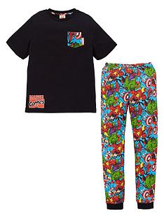marvel-boys-avengers-pocket-detail-pjs-black