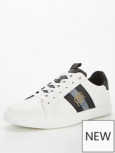 river-island-stunt-monogram-taping-trainer-white