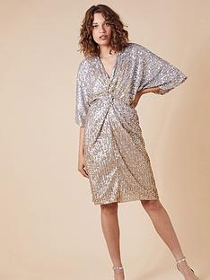 monsoon-samba-sequin-twist-short-dress-gold