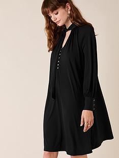 monsoon-tie-sustainable-smart-short-dress-black