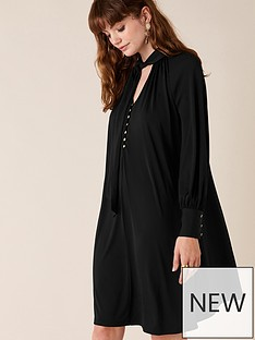 monsoon-tie-sustainable-smart-short-dress-black