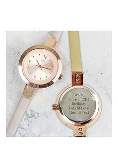 personalised-rose-gold-tone-ladies-watch