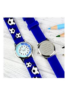 personalised-kids-blue-football-time-teacher-watch