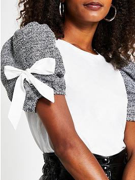 river-island-boucle-sleeve-t-shirtnbsp--white