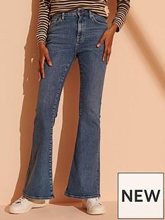 superdry-high-rise-skinny-flare-jeans-dark-blue