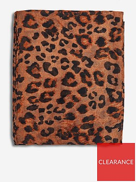 dorothy-perkins-all-over-leopard-scarf-brown