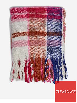 dorothy-perkins-brushed-check-scarf--nbsppink