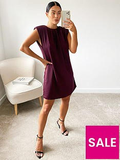 ax-paris-shoulder-pad-dress-berry