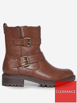 dorothy-perkins-wide-fit-aruba-buckle-biker-bootsnbsp--brown