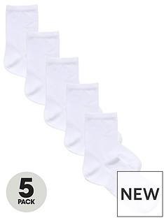 v-by-very-valuenbsp5-pack-ankle-socks-white