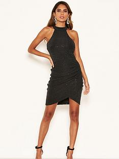 ax-paris-petite-petite-bodycon-sparkle-mini-dress-black