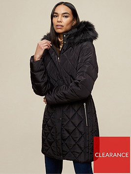 dorothy-perkins-diamond-quilt-long-lengthnbspcoat-blacknbsp