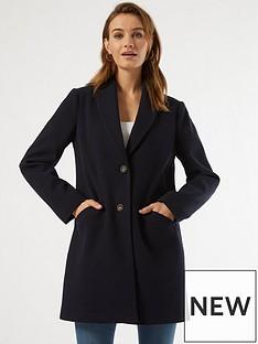 dorothy-perkins-minimal-shawl-collarnbspcoat--nbspnavynbsp