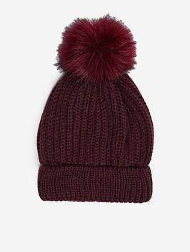 dorothy-perkins-pomnbsppom-hat-burgundynbsp