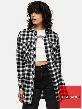 topshop-causal-oversize-check-shirt-mono
