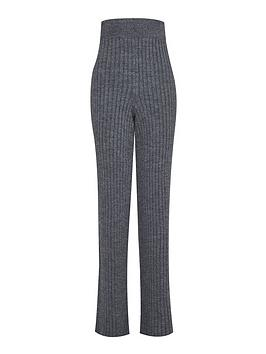 dorothy perkins tall lounge wide leg trousers - charcoal