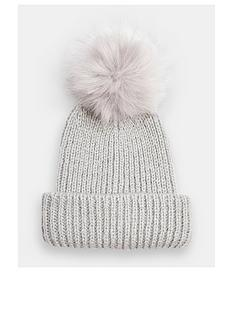 topshop-recycled-faux-fur-pom-pom-hat--nbspgrey