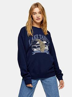 topshop-lake-tahoenbspsweatshirt-navy