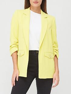river-island-pocket-detail-blazer-yellow