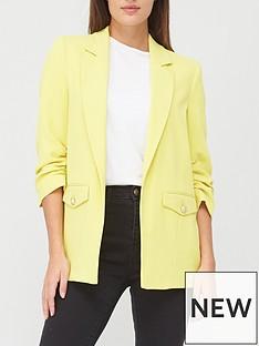 river-island-pocket-detail-blazer-yellow