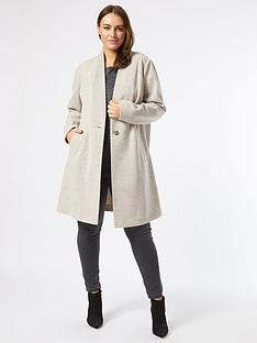 dorothy-perkins-curvenbspcollarless-jacket--nbspoatmeal