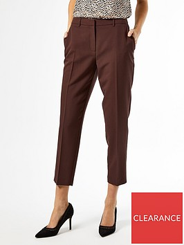 dorothy-perkins-ankle-grazer-trousers-coffeenbsp