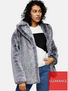 topshop-two-tone-faux-fur-coat-grey