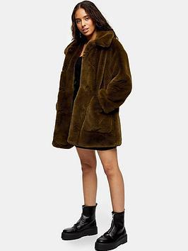topshop-petite-velvet-fauxnbspfur-coat-khakinbsp