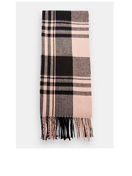 topshop-check-scarf-pink