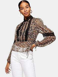 topshop-lace-insert-blouse-multi