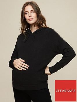 dorothy-perkins-maternitynbsplounge-pocket-hoodie-blacknbsp