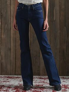 superdry-mid-rise-slim-flare-jeans