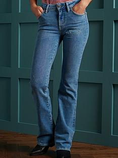 superdry-mid-rise-slim-flare-jeans-light-blue