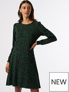 dorothy-perkins-spot-print-mini-dress--nbspgreen