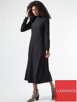 dorothy-perkins-tiered-shirred-neck-midi-dress-black
