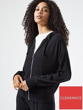 dorothy-perkins-zip-thru-brushed-hoodie-blacknbsp