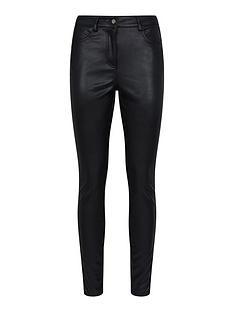 dorothy-perkins-skinny-faux-leather-pu-jeans--nbspblack